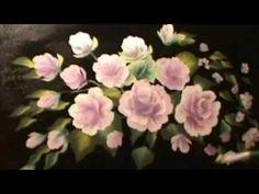 Розы акрилом №1- - техника двойного мазка. Roses in acrylics №1 - one stroke - YouTube