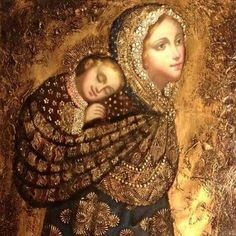 Madonna and Child Peruvian Style- I love that this shows Mary as a baby-wearing mama ❤️ Divine Mother, Blessed Mother Mary, Blessed Virgin Mary, Religious Images, Religious Icons, Religious Art, La Madone, Images Of Mary, Mother Mary Images