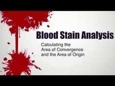 Blood Stain Analysis: Calculating the Area of Convergence and the Area o. Physics Projects, Science Fair Projects, Nursery Rhymes Lyrics, Beauty Science, Forensic Science, Criminology, Never Stop Learning, Criminal Justice, True Crime