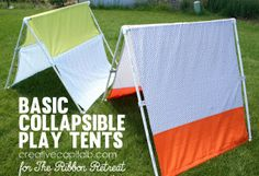 Basic Collapsible Play Tents- simple indoor/ outdoor buster! #boys #kids