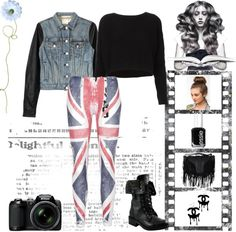 A fashion look from January 2013 featuring acrylic sweater, blue leather jackets and british flag leggings. Browse and shop related looks. Leggings, Polyvore, Image, Fashion, Moda, Fashion Styles, Fasion