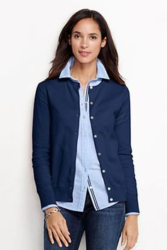 Celestial Blue to match the dress with the option of adding a short sleeve sweater for a twinset. Women's Supima Cardigan Sweater from Lands' End - Tall - $59; Short sleeve - Tall - $49