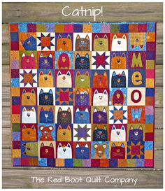 PDF - CatNip  PDF Quilt Pattern (E)  $7.78   @Darlene Lavender , is this enough to make you want to start quilting????