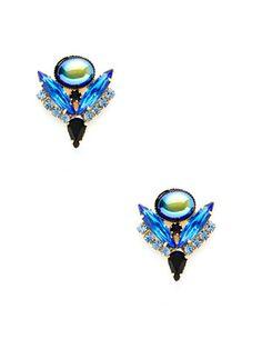 Elizabeth Cole Petite Crystal Drop Earrings