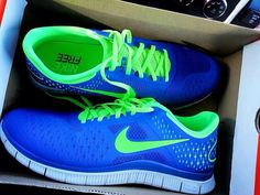 #Nike #blue and #green