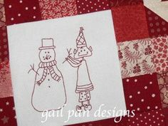 busy little christmas elves block 2 - (AE) HT