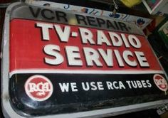 vintage RCA TV-Radio Service sign  $250