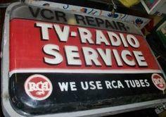 vintage RCA TV-Radio Service sign  $250