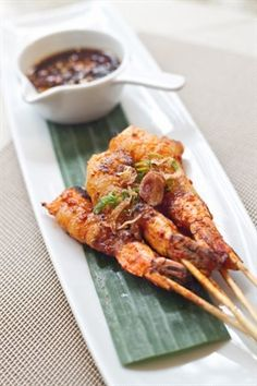 Sate Udang Java- the Indonesian Grilled Meat Skewer