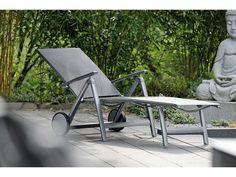 Stern Sonnenliege Porto Aluminium graphit Textil silbergrau kaufen im borono Online Shop