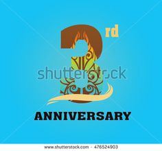 anniversary logo with javanese shadow puppet pattern 3rd