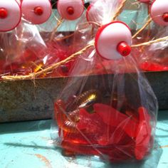 Party favors- Fish and worm bait with bobber!