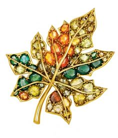 Verdura sugar-maple leaf brooch