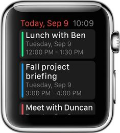 (One of Three) One of the industries that the iWatch can be used in; personal organization. #technologyonyourwrist