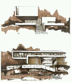 """""""#architecture_hunter Sketch by Pawel Podwojewski"""""""