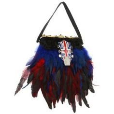 Sales Inspired by Claire Jane - English Electric Feather Purse (Red/Blue/Black/Gold Clasp) - Bags and Luggage new - Zappos is proud to offer the Inspired by Claire Jane - English Electric Feather Purse (Red/Blue/Black/Gold Clasp) - Bags and Luggage: Zappos is proud to have Inspired by Claire Jane as part of our program!
