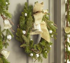 wreath with bells and ribbon