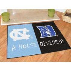 """North Carolina Tarheels - Duke Blue Devils House Divided Rug 34""""x45"""""""