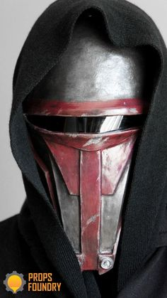 Darth Revan Sith Mask from the original Star Wars KOTOR videogame Handcrafted and handpainted. Made in resin from an original model I sculpted in monster clay. Darth Revan Mask, Sith Mask, Darth Bane, Sith Lord Costume, Star Wars Kotor, Star Wars Canon, Star Wars The Old, Armor Clothing, Star Wars Tattoo