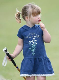 Mia Tindall at the Gloucester Festival of Polo. June 11 2017.