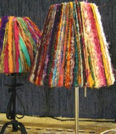 Create beautiful Anthropologie-inspired lampshades out of this unique recycled knitting pattern! The Sari Ribbon and Yarn Lampshade offers you a creative way to mix up your normal knitting routine. Add a bohemian-chic vibe to any room of your house with one of these gorgeous yarn lampshades. This is one of those DIY home decor projects that will make a big statement without breaking the bank.