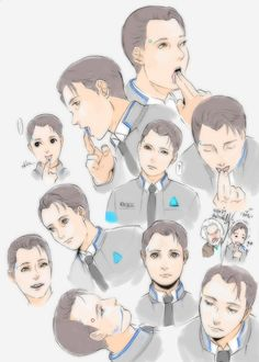 Detroit Become Human Connor's sketches