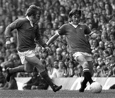 Man Utd 3 Everton 0 in April 1974 at Old Trafford. 2 goal star Jim McCalliog in…