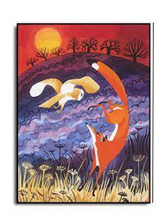 Surprised Fox Carry Akroyd - Painter & Printmaker - Postcards