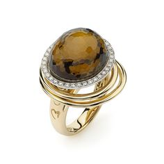 """K di Kiore - Citrine Hula Hoop Ring 