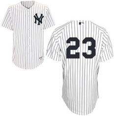 a7541002303 New York Yankees 23 Don Mattingly Authentic White Home MLB Jersey is  designed with all the