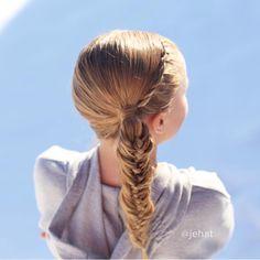jehat hair — My first woven fishtail braid!   #twinshair...