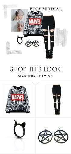 """I'm Bored"" by jumble0berries ❤ liked on Polyvore featuring moda ve marvel"