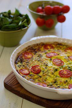 Cinco Quartos de Laranja: Flan de espinafres, curgete e queijo cottage