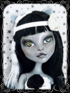 """Mia""OOAK - custom repaint Monster High Purrsephone doll Mattel - ooaKBcréations"