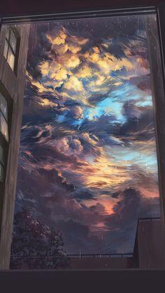 anime, art, and clouds εικόνα