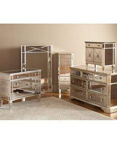 Marais Bedroom Furniture Sets & Pieces, Mirrored - Mirrored Furniture - furniture - Macy's #BedroomSets