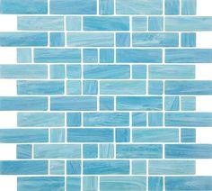 Glass Mosaic Tile Water Art Aqua Mix for swimming pool and spa. Mosaic Bathroom, Glass Mosaic Tiles, Small Bathroom, Jacuzzi Bathroom, Bathrooms, Bathroom Ideas, Design Bathroom, Bath Ideas, Modern Bathroom