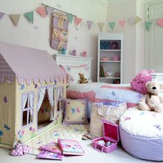 The Butterfly Cottage Playhouse Collection for children from Canvas and Willow | Canvas & Willow