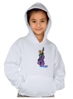Enjoy winter weather with the Hanes ComfortBlend Hooded Sweatshirt. Use the ColorizeME Tool to create a personalized gift she'll love! http://www.girlscantwhat.com/personalized-gifts/string-bass-player/ #girlscantwhat #girlpower  #stringbassplayer