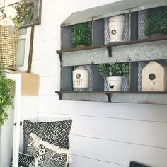 I don't know if you remember but I bought this chicken nester at back around December 🙈 Guess what I FINALLY… Chicken Nesting Boxes, Farmhouse Chic, Farmhouse Ideas, Kitchen Decor, Rustic Kitchen, Repurposed, Decorative Boxes, Sweet Home, New Homes