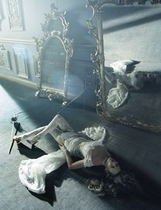 beauty and the beast: kate moss by tim walker for vogue italia december 2015