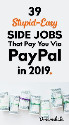 39 stupid-easy side jobs that pay y Ways To Earn Money, Earn Money From Home, Money Saving Tips, Way To Make Money, Money Tips, Money Hacks, Making Money From Home, Earn Extra Money Online, Make Money Online Surveys