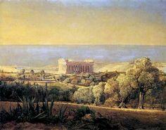 Waldmüller, Tempel der Concordia bei Girgenti, 1849