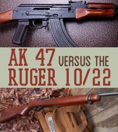 AK47 vs. Ruger 10/22 – Survival Rifle Match Up   Survival Prepping Ideas, Survival Gear, Skills & Emergency Preparedness Tips - Survival Life Blog: survivallife.com #survivallife