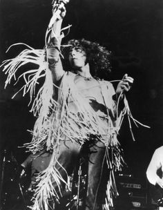 Roger Daltrey on stage at Woodstock, 1969.