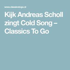 Kijk Andreas Scholl zingt Cold Song – Classics To Go