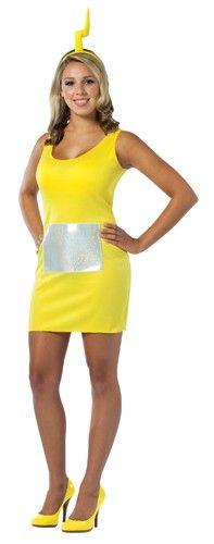 Teletubbies Laa-Laa Tank Dress Adult Costume.  Buy Now @ http://www.pinkimpulse.com/Teletubbies-Laa-Laa-Tank-Dress-Adult-Costume.html