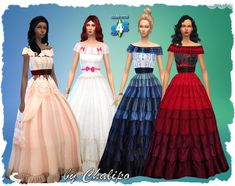 Gone with the wind recolor - Filebase - All4Sims.de