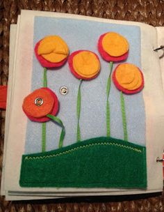 The Intentional Momma: Quiet Book - Snap flowers