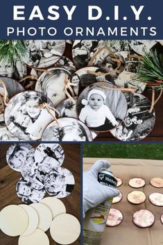 These DIY photo Christmas ornaments are so easy to make and are a great way to display some of your special family memories! These DIY photo Christmas ornaments are so easy to make and are a great way to display some of your special family memories! Homemade Christmas Tree Decorations, Diy Gifts For Christmas, Photo Christmas Ornaments, Christmas Photos, Christmas Projects, Christmas Crafts, Diy Ornaments, Picture Ornaments, Family Ornament